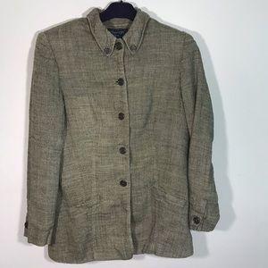 Burberry's Women's Cotton wool blend blazer sz 12